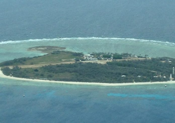 A true coral island with reef, the stuff of boys' adventure stories