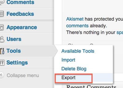 wordpress.com backup
