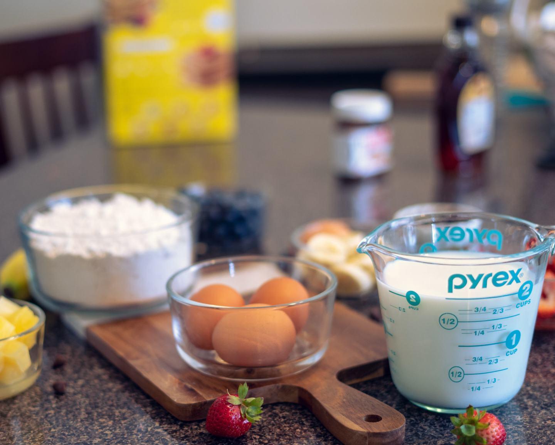 ingredients for sheet pancakes