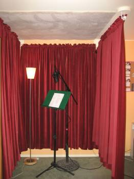 VoiceOverXtra  Home Studio Bedroom With Moving Drapery