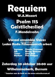 Cantatedienst met Vocaal ensemble Voices @ Wilhelminkerk