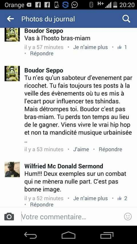 Screenshot tonton Boudor Vs Dj Bilik (source: page Facebook Clashes 237)