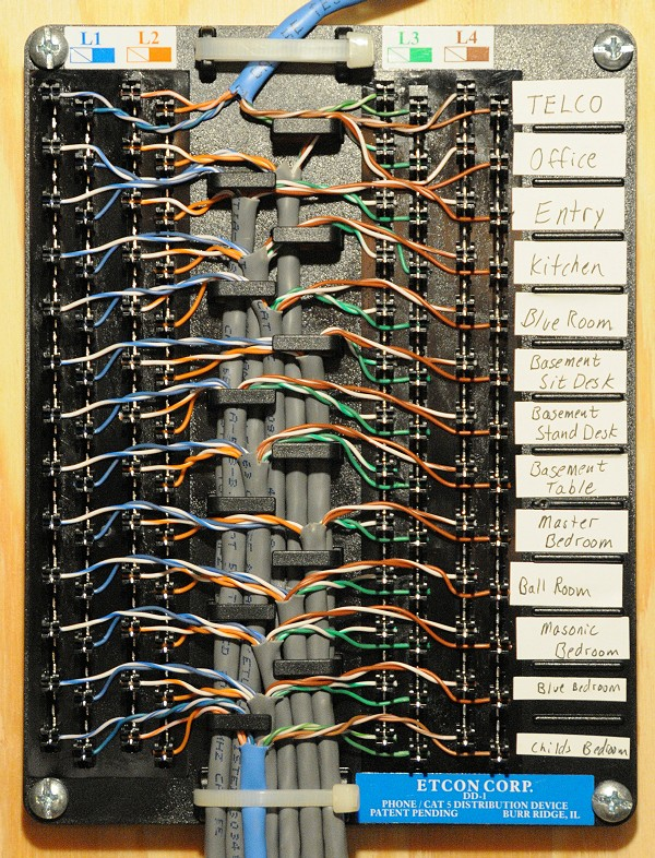 telephone patch panel wiring diagram tekonsha voyager brake controller voip my house how to quickly distribute a phone line your 4 distribution via 110 punch down block