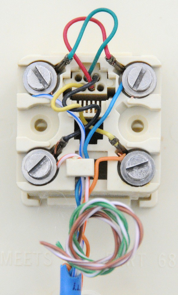4 Wire Telephone Jack Wiring Diagram