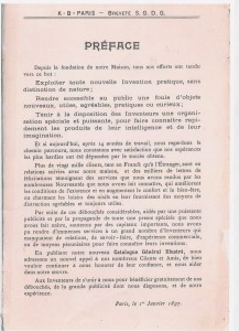 préface  cata 1897