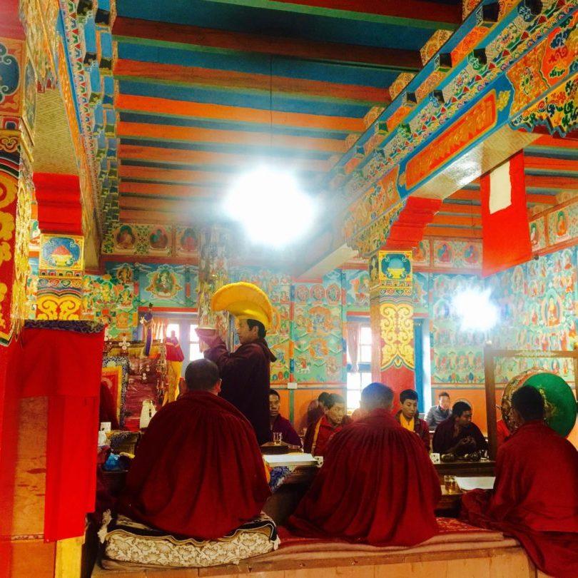 Rituals at Lukla Monastery, Nepal