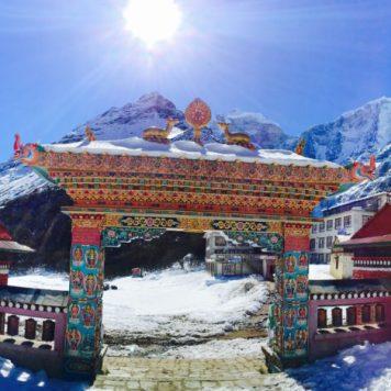 Monastery Gate at Tengboche, Nepal