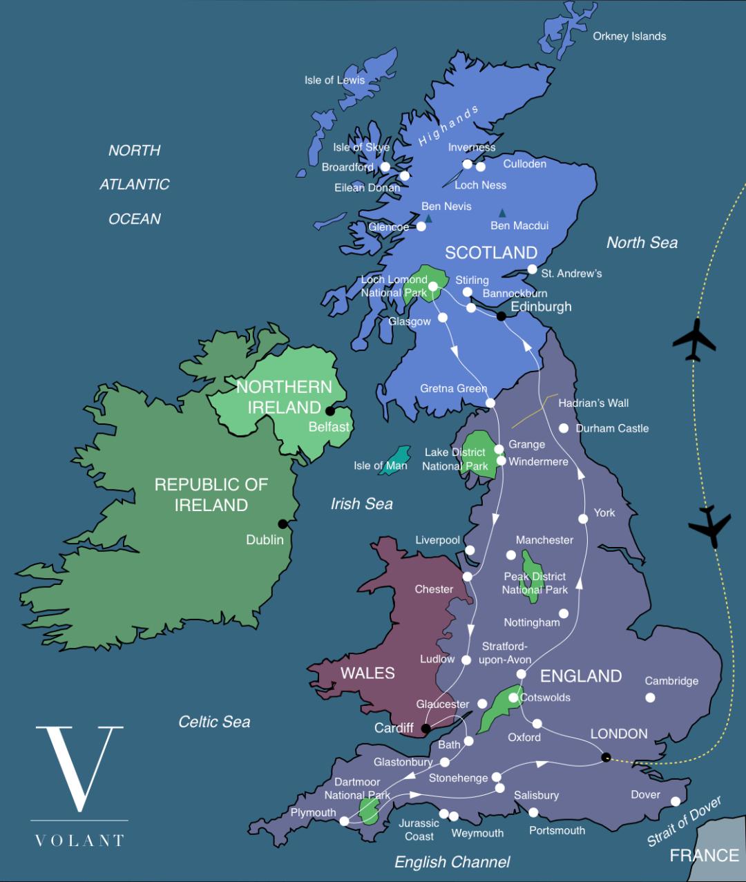 Discover Britain Tour Map | Volant