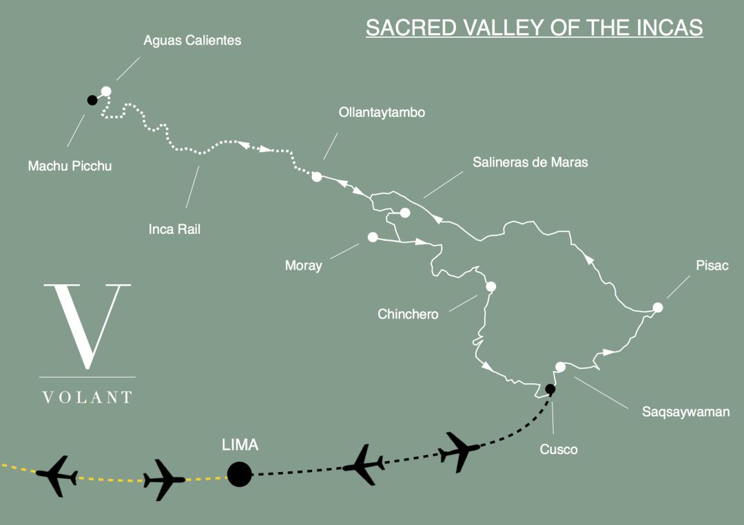 Machu Picchu & Sacred Valley Tour Map | Volant