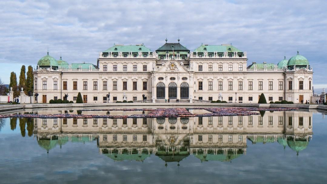 Belvedere, Reflection Pool, Vienna, Austria