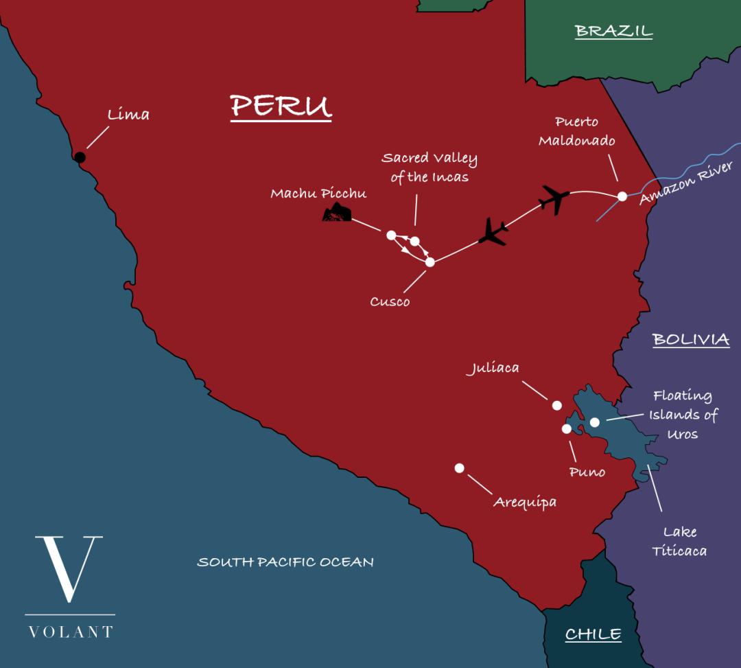 Sacred Valley of the Incas, Peru Map | Volant Travel