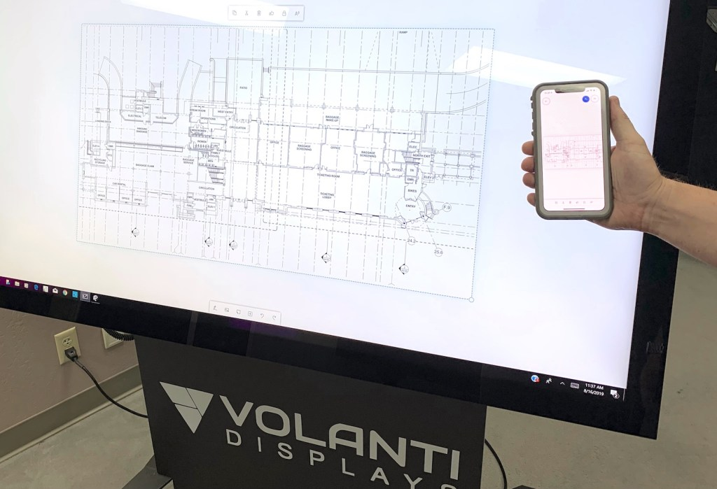 Volanti touch and whiteboard