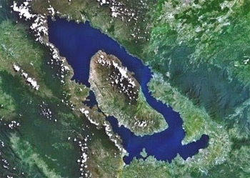 Toba from space