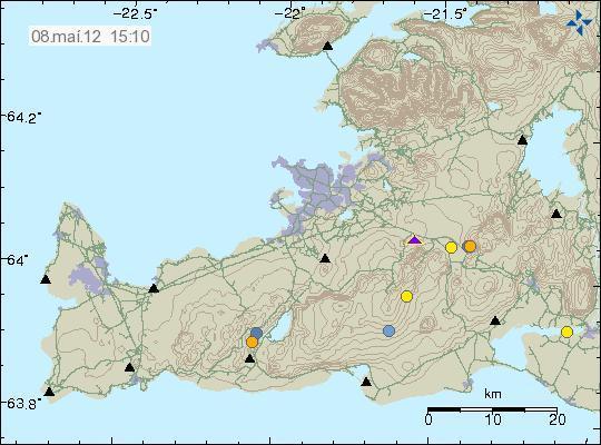 Fig. 2. Reykjanes Peninsula (http://en.vedur.is)