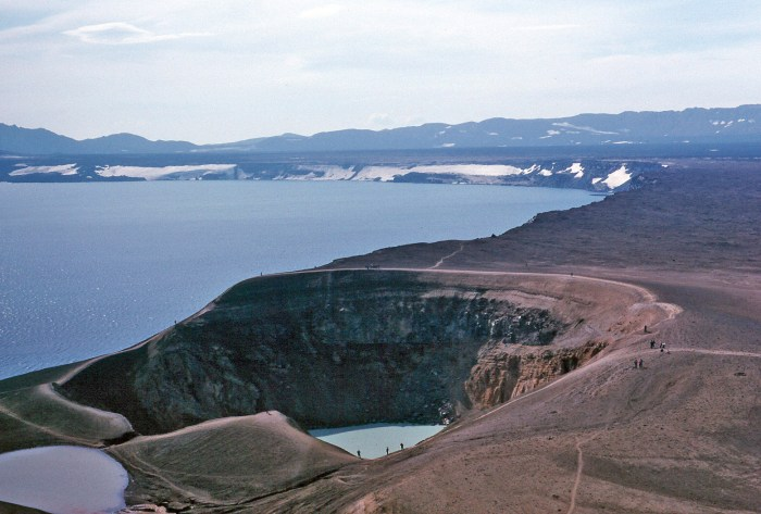 Askja volcano with the Viti crater lake in the foreground.