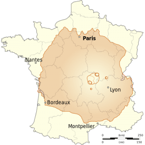 About 600 - 800 km wide, Olympus Mons would cover most of France. (WikiMedia)