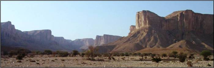 Jurassic escarpment in central Saudi Arabia