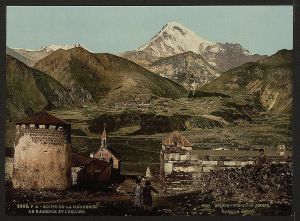Mount Kazbek, on an old postcard