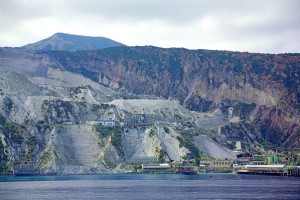 Pumice quarry and obsidian flow on Lipari
