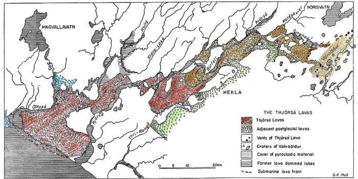 The Thorsja lava flow. Source:  Árni Hjartarson (wikimedia)