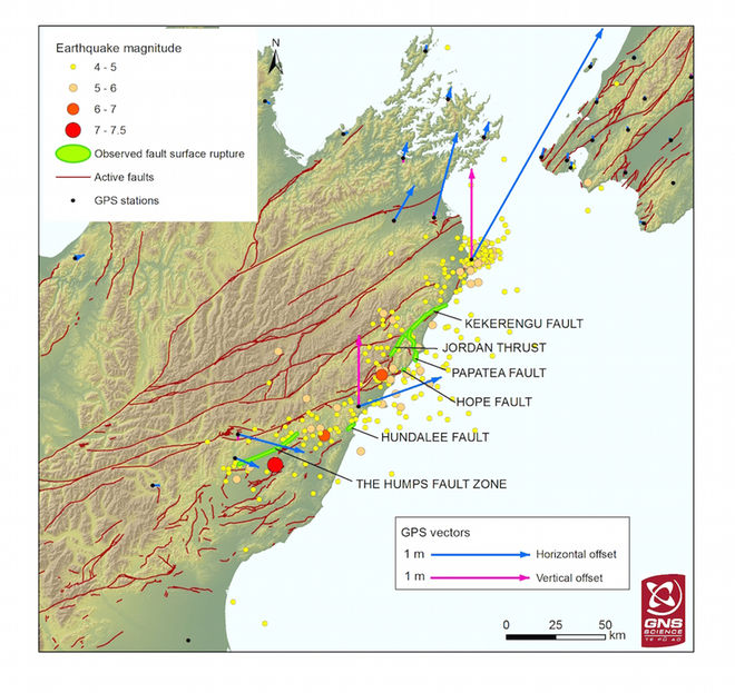 The failed faults of the November 2016 Kaikoura earthquake