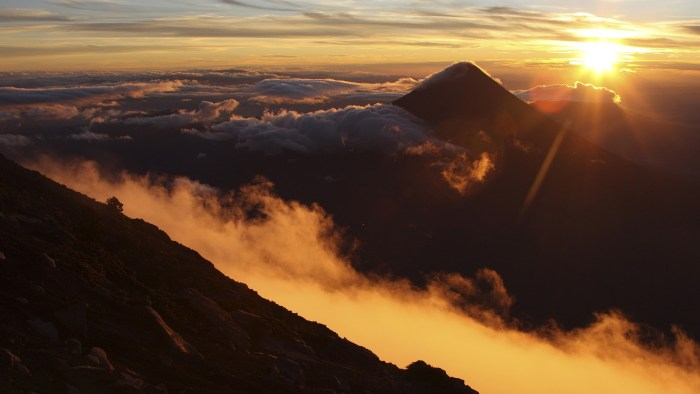 Sunrise over Fuego photographed from Acatenango. Now, remind yourself why are you not here?