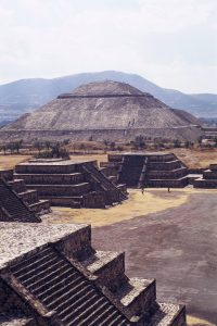 The famous Pyramid of the Sun along the Avenue of the Dead in Teohitican