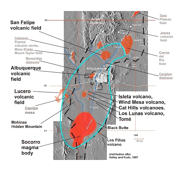 The magma of the Rio Grande rift valley. From http://www.earth-of-fire.com/new-mexico-6-lucero-volcanic-field-and-socorro-magma-body.html
