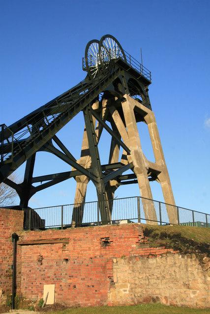 Pleasley Colliery - north shaft headgear
