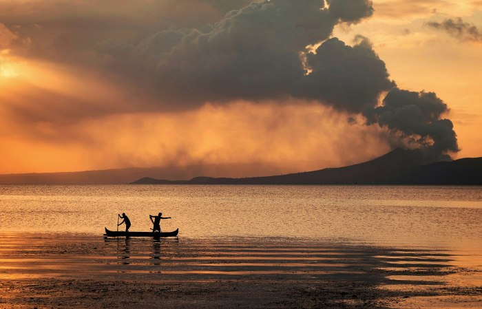 The Crown within the Lake- Taal Erupting, 14 January 2020