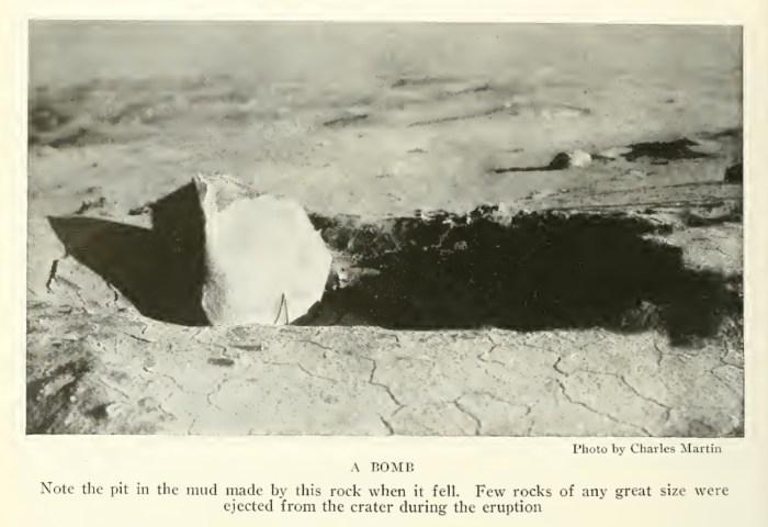 Volcanic boulder 1911 eruption