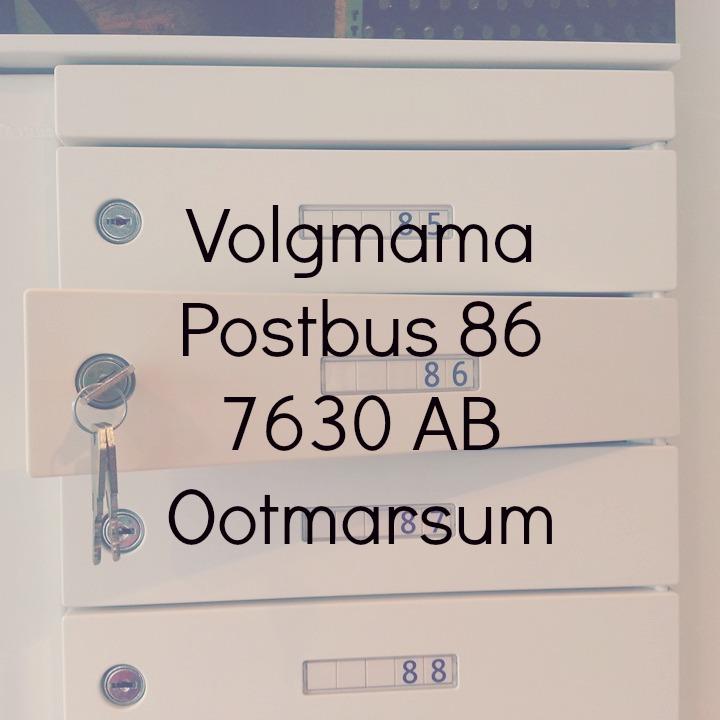 postbus blogger adres volgmama