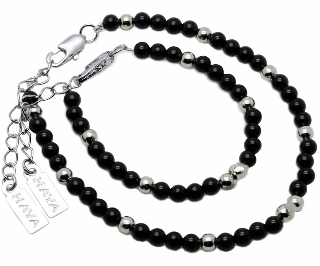 vader zoon armbanden set - Kaya sieraden - kraamcadeau voor vaders