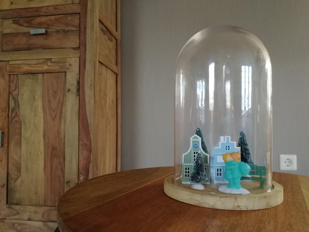 AH Winterdorp mini's deco glazen stolp
