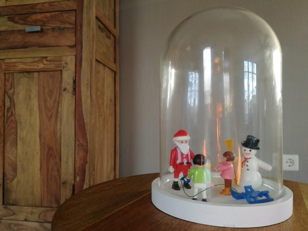 Glazen Stolp decoreren met Kerst Playmobil