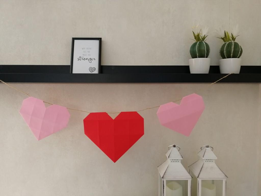 Valentijnsdag slinger maken