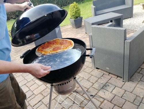 Weber bbq pizza Barbecue recept