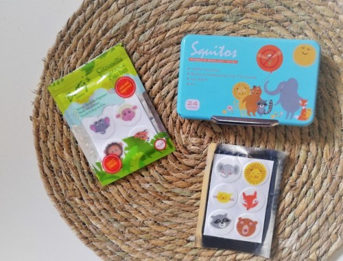 Anti muggen pleisters stickers review ervaringen - Verschil Squitos en Action Bettys Nature