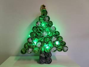 Kerstboom knutselen met wc rol