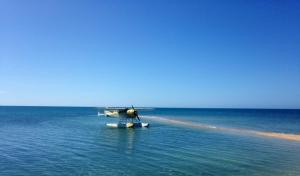treat yourself to a transfer to Volivoli in a sea plane