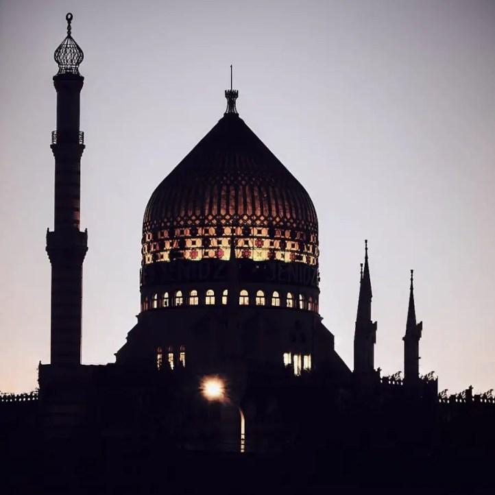 Yenidze, Dresden bei Nacht