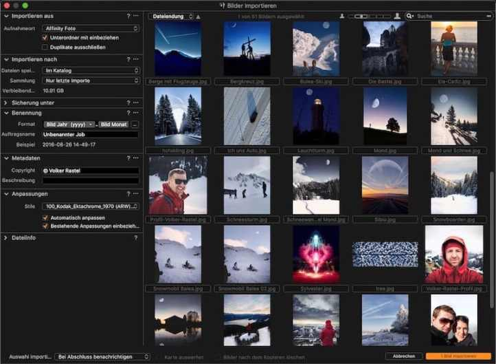 Capture One Workflow: Import