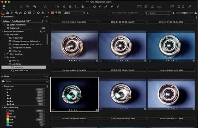 Capture One Workflow: Bewertung