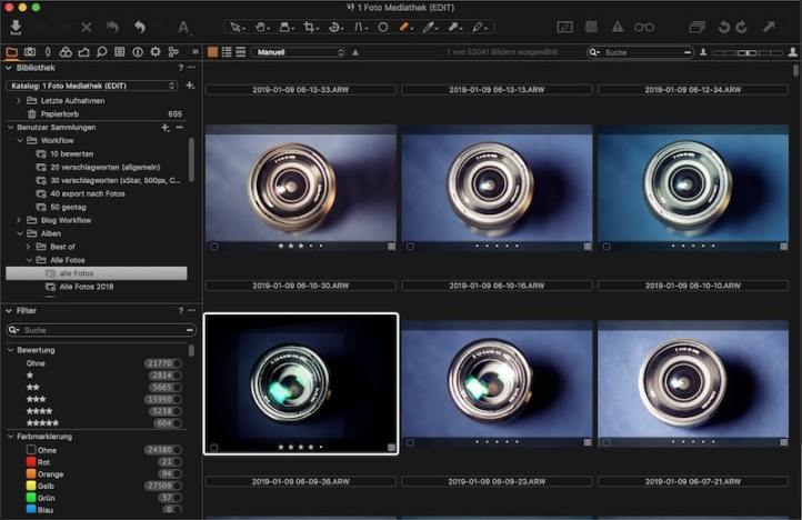 Capture One Workflow: Bewertung