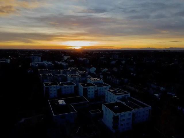 Drohnenfotografie Sonnenuntergang