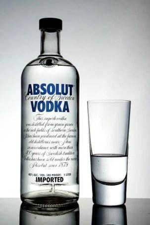 Produktfotografie: Vodka-Flasche