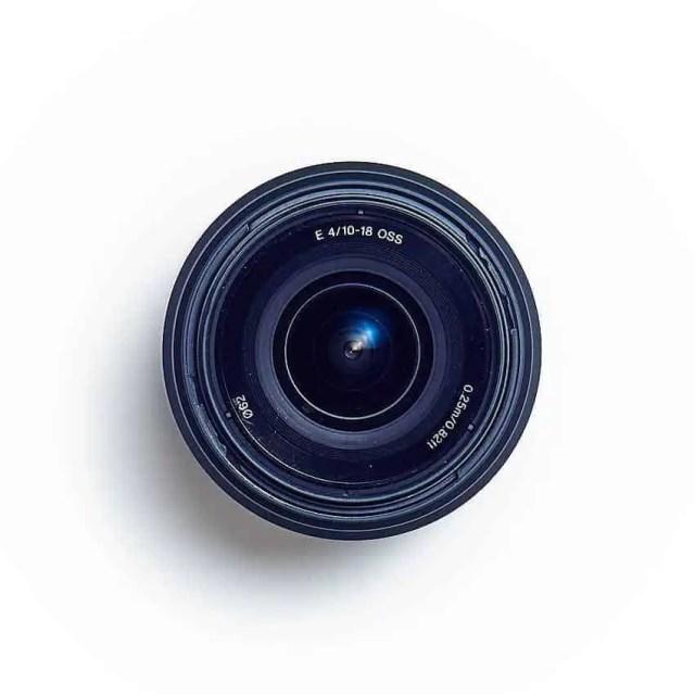 Sony E-Mount SEL1018 Objektiv (Frontnsicht)