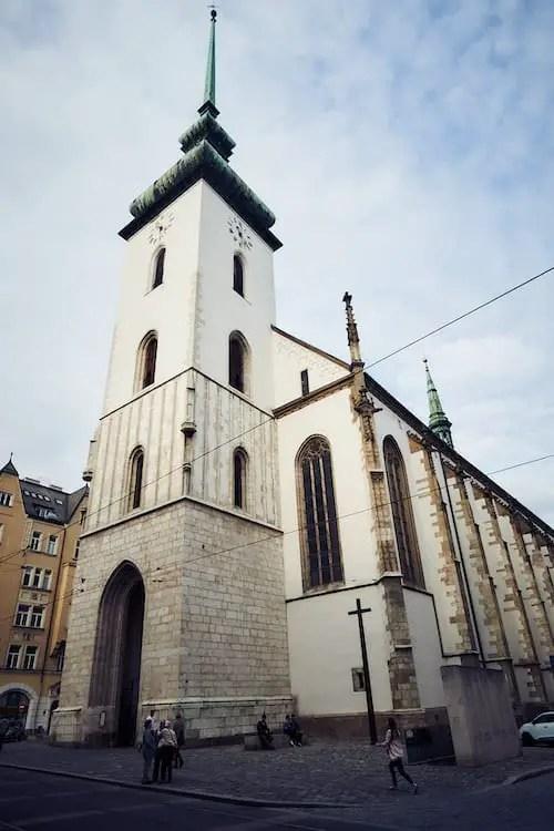 Brünn - Die Kirche St. Jakob