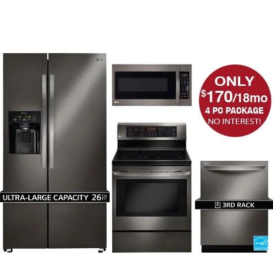 lg kitchen suite grills john s appliance bedding package home appliances 4 piece