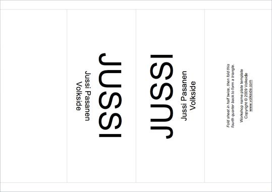 Workshop tip: Name plate template
